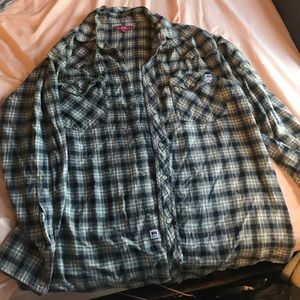 Gray, Navy and White Farmall Flannel